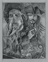 Davy Jones vs Capt. Jack by GabeFarber