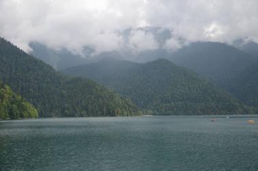 Ritsa lake, Abkhazia by slavanap
