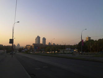Sunset in Moscow by slavanap