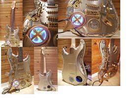 Steampunk guitar by Spagheth