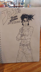 Fanart: Joseph Joestar Step 2: Ink by DVindictus