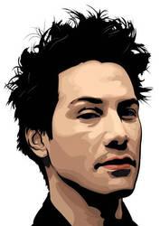 Keanu Reeves by flatfourdesign