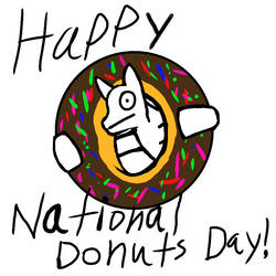 Happy National Donuts Day by xxlianastarfoxx