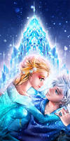 Elsa and Jack: Love in the Ice by Yinamon