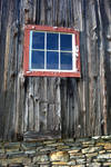 Red Barn Window by recycledrelatives