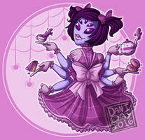 Tea Time with Muffet by ArtByFlan