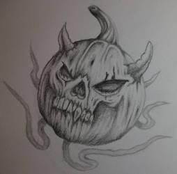 Pumpkin Drawing 2 by RockoArt