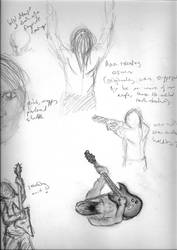 Sketches for Hannah by Fithakk