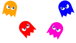 Inky, Blinky, Pinky, Clyde by domobfdi