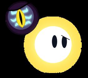Dark Eye And Light Ball by domobfdi