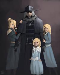 Bloodborne - Gascoigne family by chuylol14