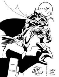The Batman Scott McDaniel INKS by JamesLeeStone