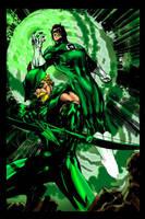 Green Arrow Lantern Jim Lee-ME by JamesLeeStone