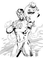 Green Lantern Jim Lee INKS ME by JamesLeeStone