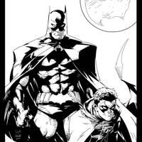 Batman n Robin Capullo INKS by JamesLeeStone