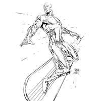 Silver Surfer Finch my INKS by JamesLeeStone
