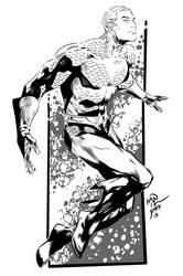Aquaman by Reis my INKS by JamesLeeStone