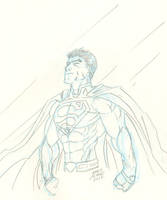 Superman Sketch by JamesLeeStone