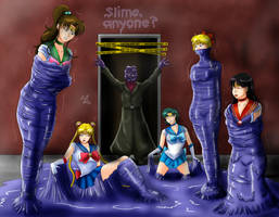 Sticky Cocooned Sailor Senshi by Lady-of-Mud