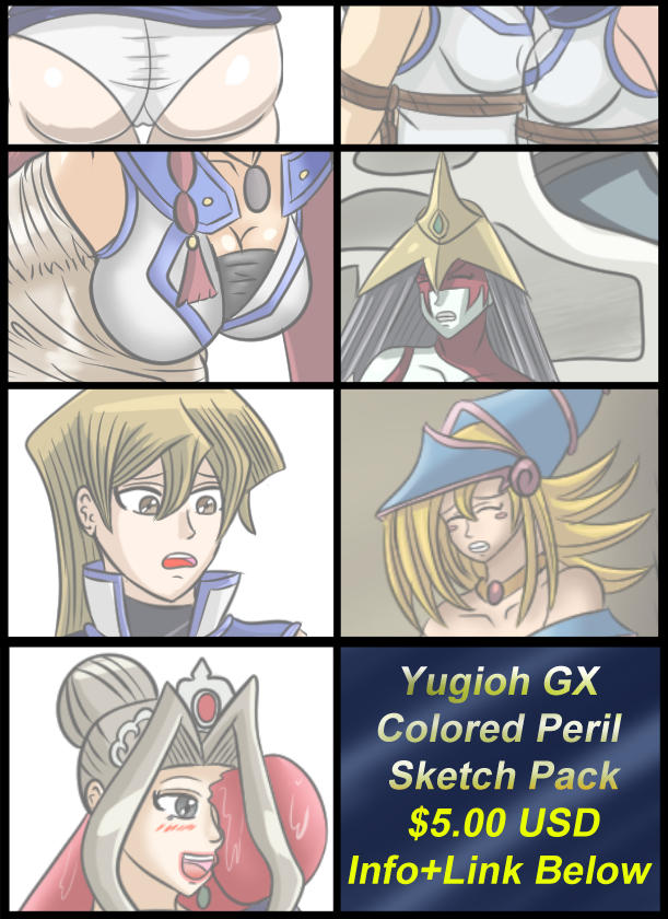 $5USD Yugioh GX Colored Sketch Peril Picture Pack by Lady-of-Mud