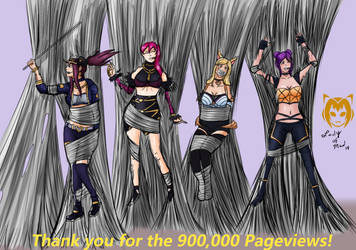 Thank you for the 900k Pageviews! (KDA Spider Web) by Lady-of-Mud