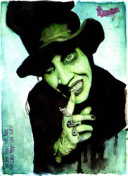 Sinister Grin: Portrait of Marilyn Manson by RE-BE-KA