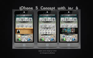 iphone5_with ios 6 design by bioshare