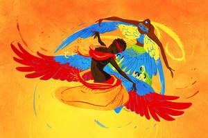 the dance by OrangePopFox