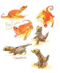 baby dragons by OrangePopFox