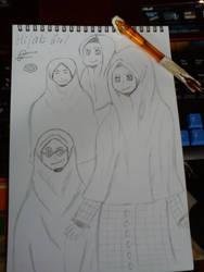 Hijab Girl by TheMysteryAnimeOtaku