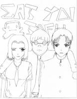Manga collab cover page sketch by xwx101