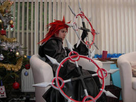 Axel and chakrams by KellyJane