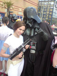 Darth Vader and Padme Amidala by KellyJane