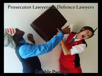 Ace Attorney - Godot vs Apollo by KellyJane