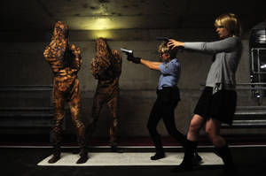 Cybil and Rose vs Silent Hill by KellyJane