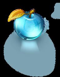 Blue Crystal Apple by Adroth-Rian