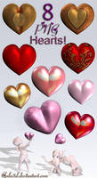 8 PNG  Hearts... by Gala3d