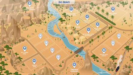 Rio Bravo - Sims 4 Fanmade Map by filipesims