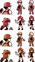 Red and Blue Sprites for G/S/C by Ghost-MissingNo