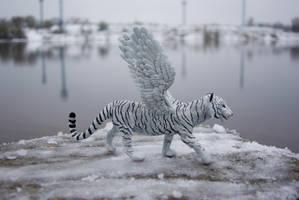 white winged tigress  commission by LordBurevestnik