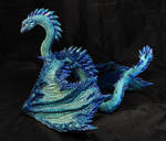 Ice Sapphire Girl Dragon by LordBurevestnik