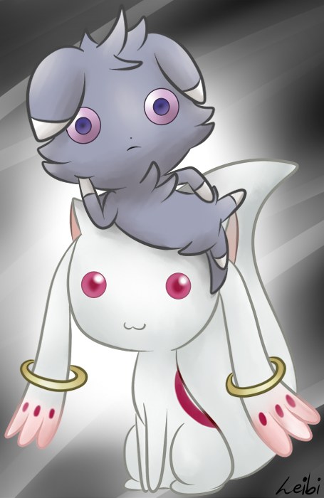 Espurr And Kyubey Look Into Our Eyes By Leibi97 On Deviantart