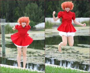 Ponyo: Jump! by thecreatorscreations
