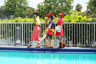 Studio Ghibli: Pool Party Girls by thecreatorscreations