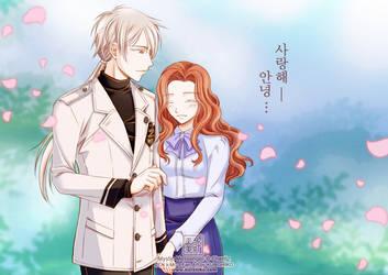 Mystic Messenger Fan Art: Zen x MC3 by kurohiko