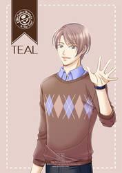 Gijinka #2: Teal (Coffee Bean and Tea Leaf) by kurohiko