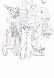 Yogscastlalna sketch by HelloImRame