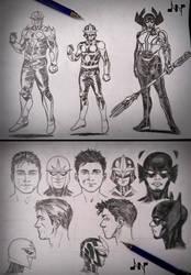 Nova Character Designs by AlbertoNavajo