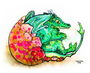 Earth Dragon reborn / Watercolor by jamysha