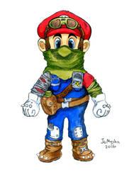 Super Mario character - Post-Apocalypse v.01 by jamysha